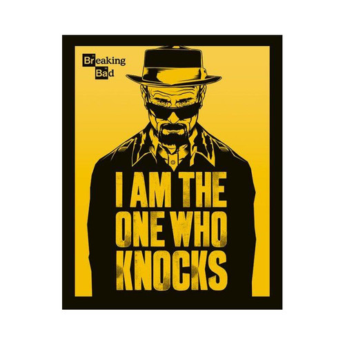 Breaking Bad - I Am The One Who Knocks Small Blockmount Wall Hanger