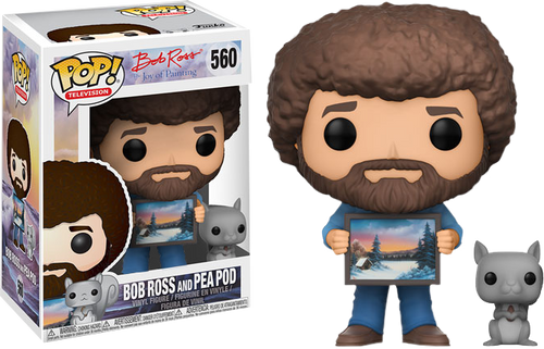 The Joy of Painting - Bob Ross with Pea Pod the Squirrel US Exclusive Pop! Vinyl Figure