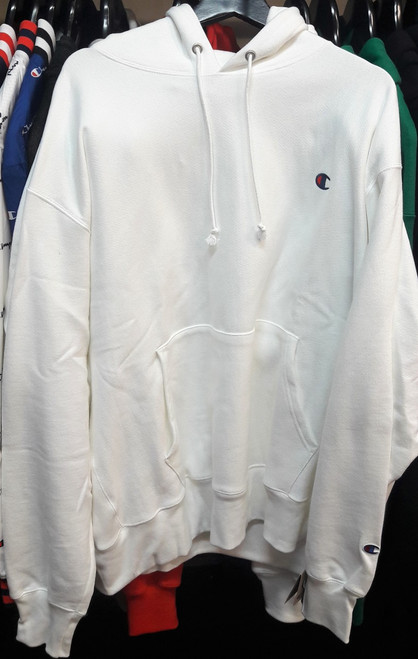 Champion Reverse Weave White Hoodie Pullover Jersey