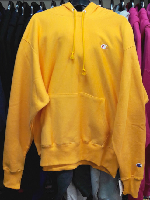 Champion Reverse Weave Gold Hoodie Pullover Jersey
