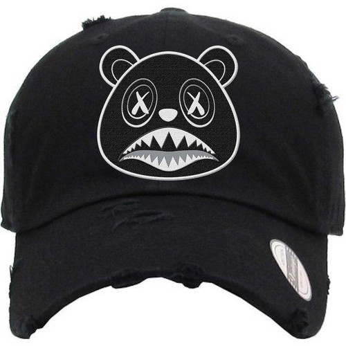 BAWS Bear Black Logo Black Dad Hat