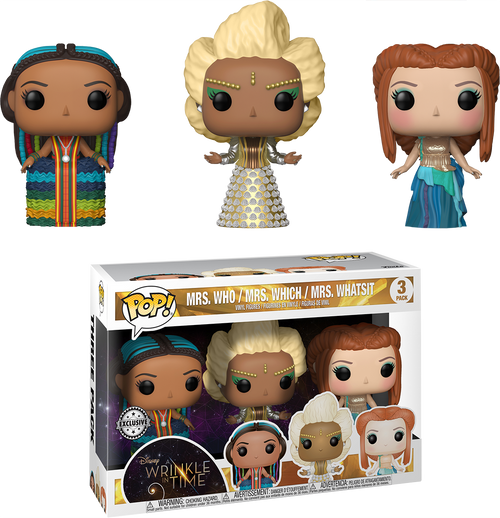 A Wrinkle in Time - Mrs. Who, Mrs. Which & Mrs. Whatsit US Exclusive Pop! Vinyl 3-Pack