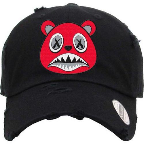 BAWS Bear Red Logo Black Dad Hat
