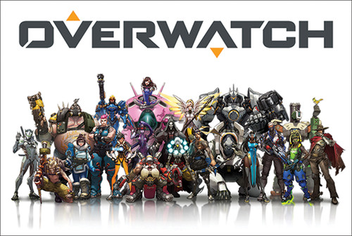 Overwatch Mounted Wall Hanger Picture