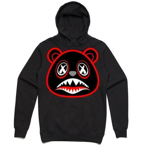 9f906fd96c88 BAWS Red Outline Bear Black Hoodie