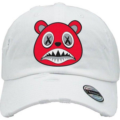 BAWS Red Bear White Dad Hat