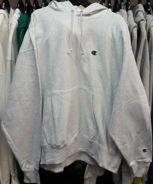 Champion Reverse Weave Silver Hoodie Pullover Jersey