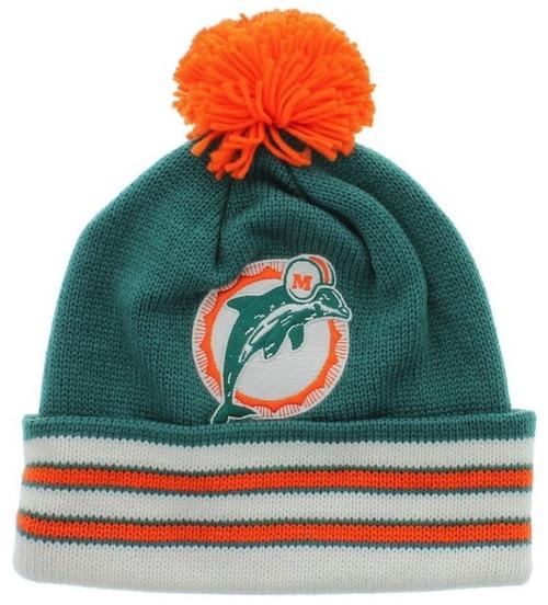 Miami Dolphins Mitchell & Ness Beanie Hat