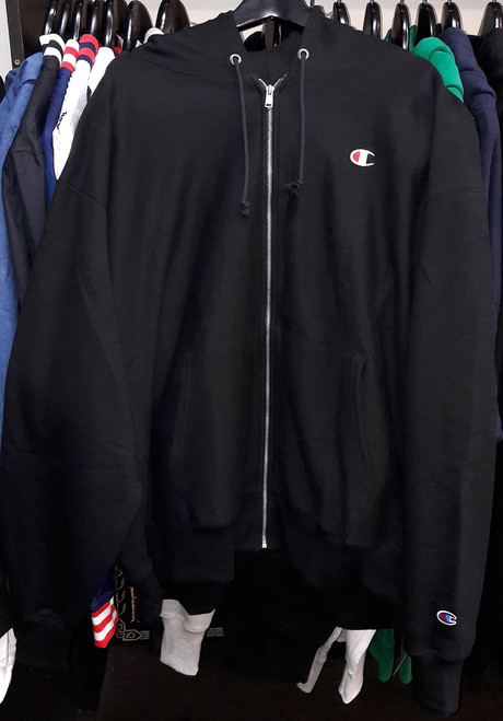 Champion Zip Up Black Hoodie Pullover Jersey