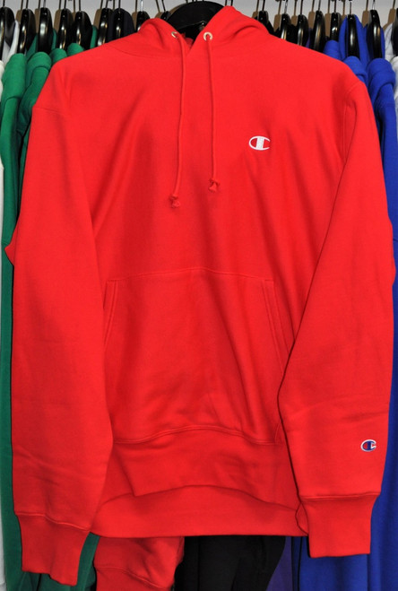 Champion Reverse Weave Red Hoodie Pullover Jersey
