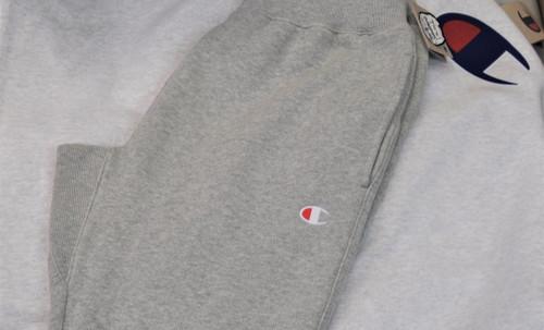 Champion Grey White Logo Tracksuit Pants