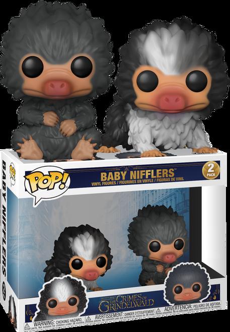 Fantastic Beasts 2: The Crimes Of Grindelwald - Baby Nifflers Black and Grey US Exclusive Pop! Vinyl Figure 2-Pack