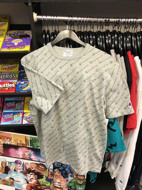Champion Diagonal Script Grey T-Shirt