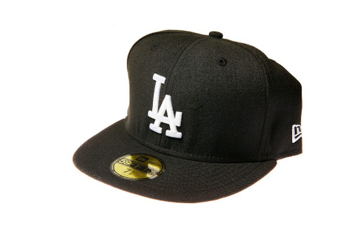 93e877964b0c6e ... Los Angeles Dodgers Logo New Era Black 59FIFTY Fitted Cap ...