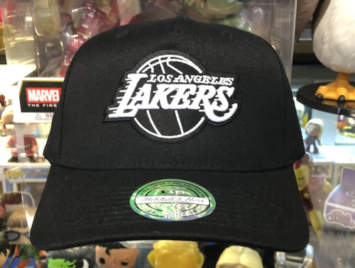 Los Angeles Lakers Black & White Flex Mitchell & Ness Snapback Hat