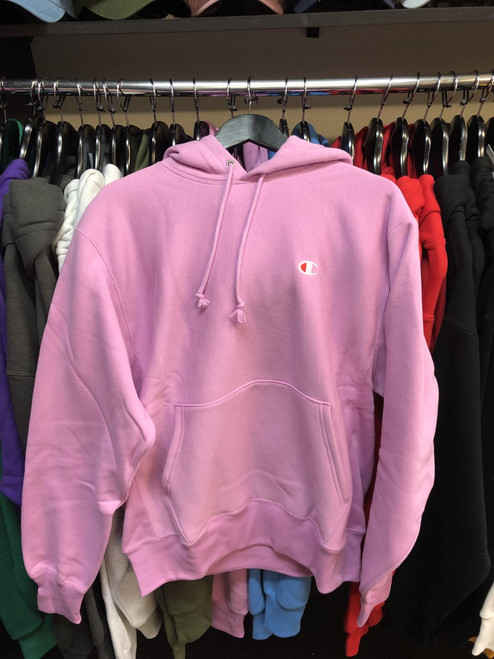 Champion Reverse Weave Pastel Pink Hoodie Pullover Jersey