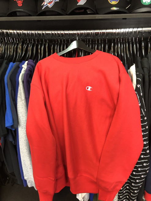Champion Reverse Weave Red Crew Neck Jersey