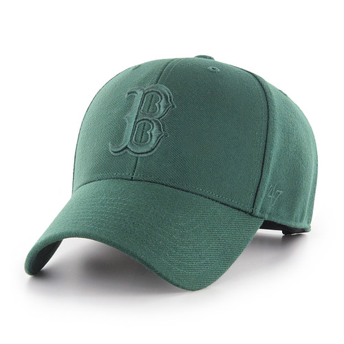 d72c248fc6902 Boston Red Sox Green Logo MVP 47Brand MLB Strapback Hat