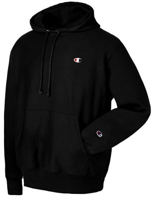 Weave Champion Pullover Hoodie Reverse Jerse Black Authentic 55Zr8wqv