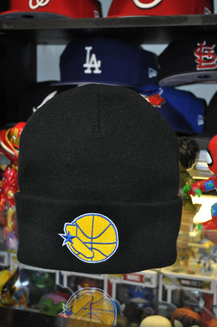 Golden State Warriors Logo Mitchell & Ness Black Beanie Hat