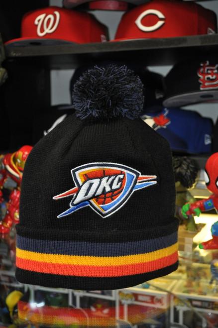 Oklahoma City Thunder Logo Mitchell & Ness Black Beanie Hat