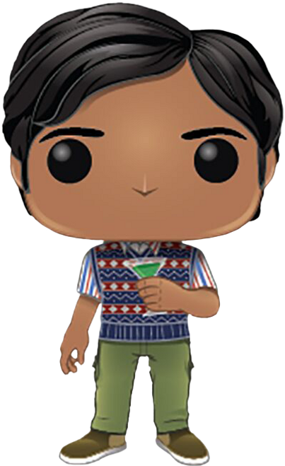 The Big Bang Theory - Rajesh Koothrappali with Grasshopper Cocktail Pop! Vinyl Figure