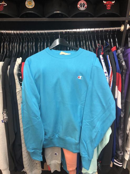 Champion Reverse Weave Tidal Blue Crewneck Jersey