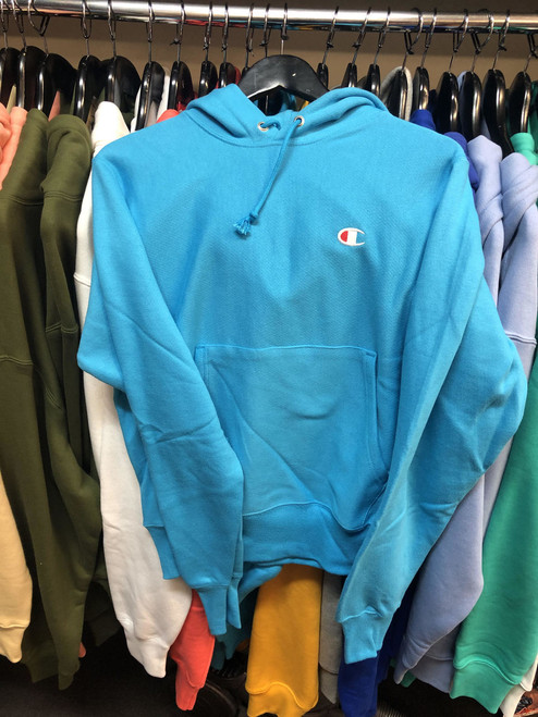 Champion Reverse Weave Tidal Blue Hoodie Pullover Jersey