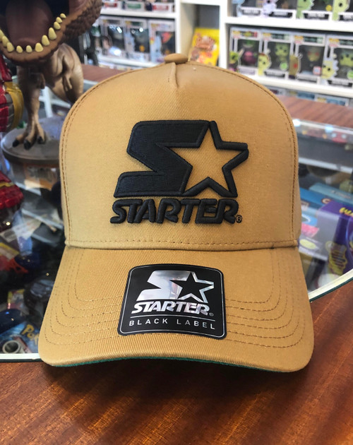 Black Logo STARTER Khaki Snapback Hat