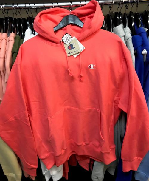 Champion Reverse Weave Papaya Hoodie Pullover Jersey