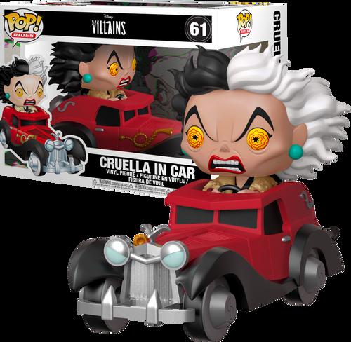 101 Dalmatians - Cruella De Vil in Car US Exclusive Pop! Rides Vinyl Figure
