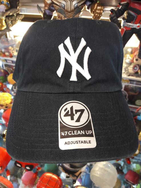 New York Yankees Navy 47Brand MLB Strapback Clean Up Hat