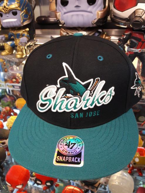San Hose Sharks Script 2-tone 47Brand NHL Snapback Hat