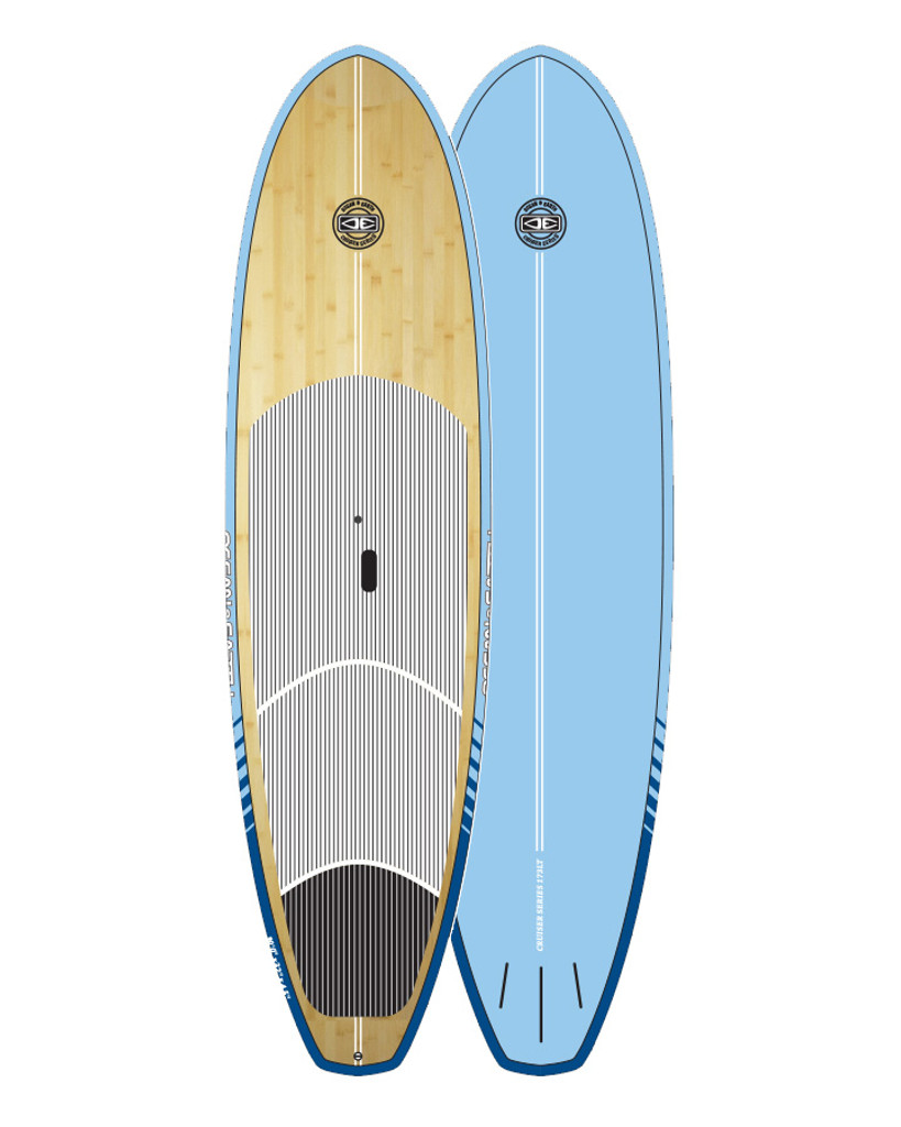 Cruiser Epoxy/Bamboo SUP Board - Aqua 9'6""
