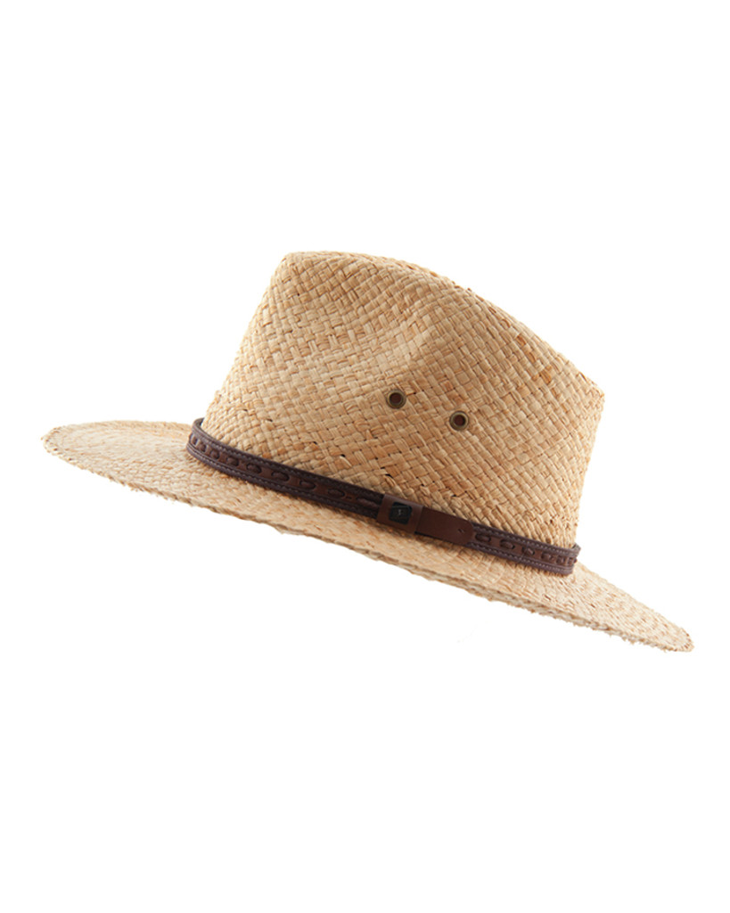 Bowlo Raffia Cane Hat -  Natural