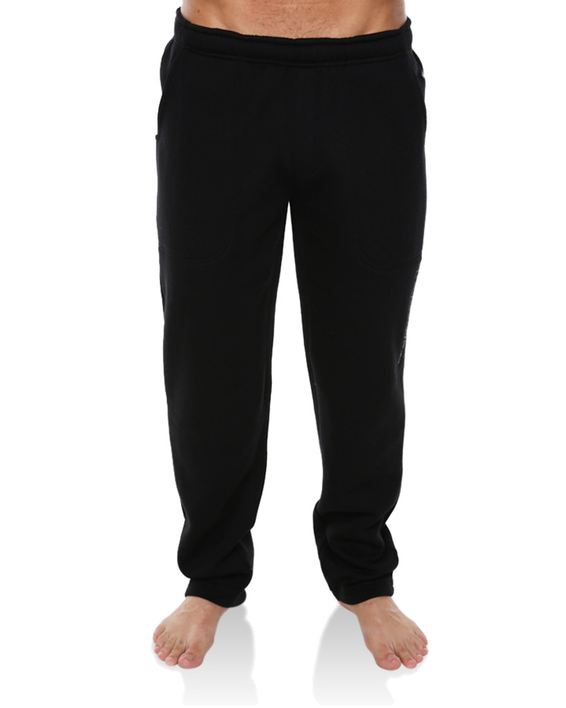 Mens Trip Open Leg Track Pant - Black