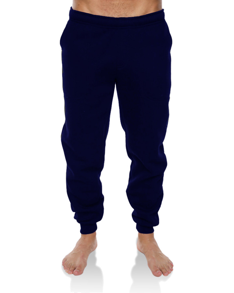 Mens Chance C/Leg Track Pant-Navy