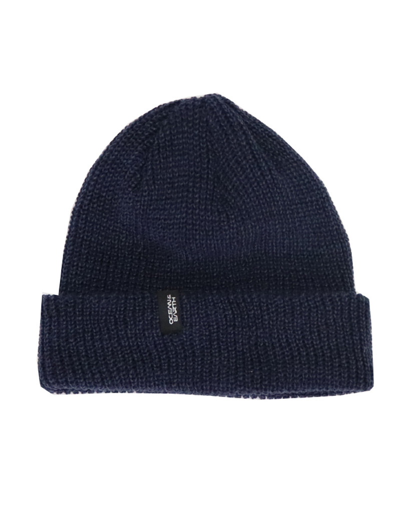 Mens Fisho Beanie-Blue Marle