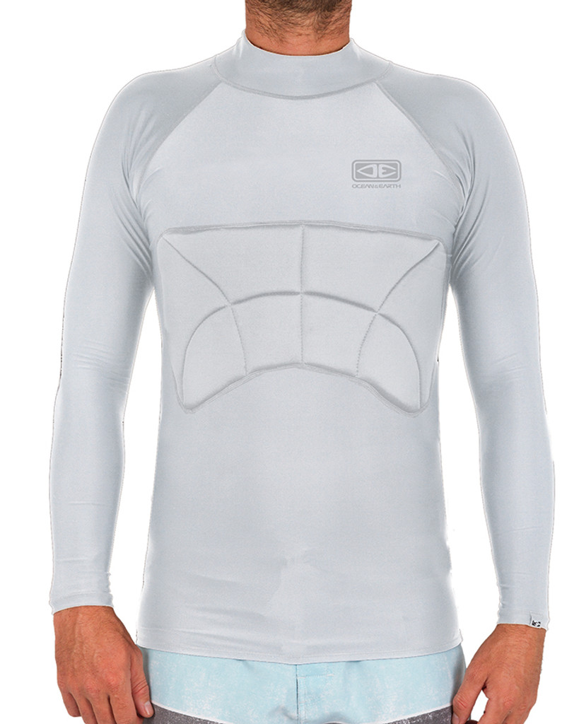 Rib Guard Padded Long Sleeve Vest - Grey