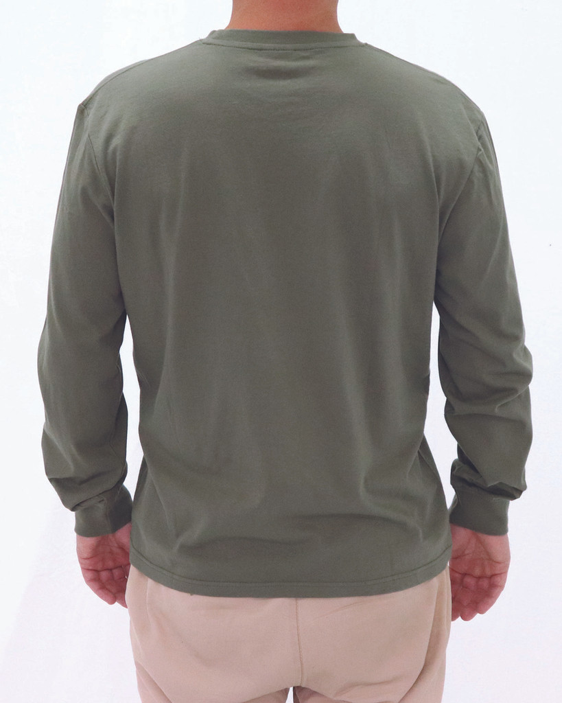 Big Mens Punt Long Sleeve Tee-Olive
