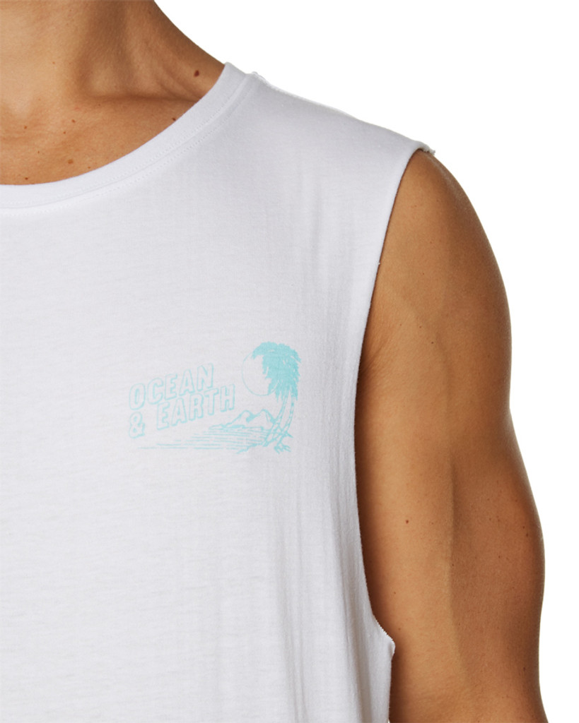 Mens All Day Muscle-White
