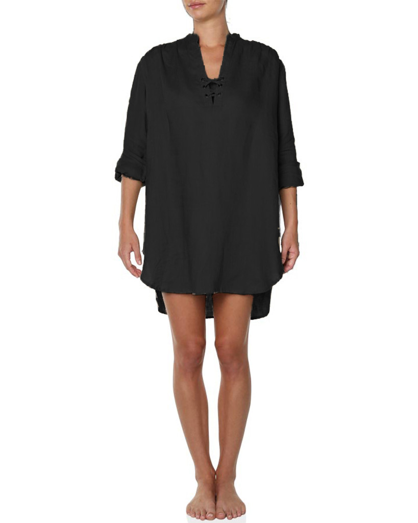 Ladies Sunny Beach Shirt-Black