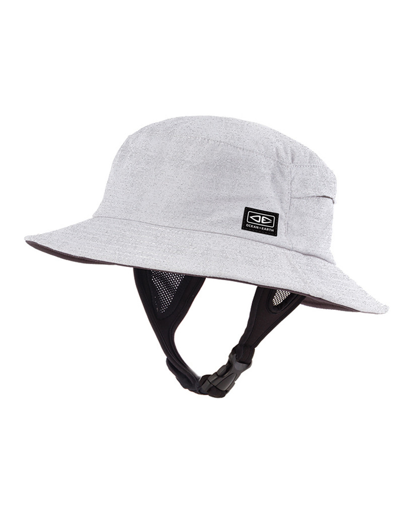 Mens Bingin Soft Peak Surf Hat - White Marle