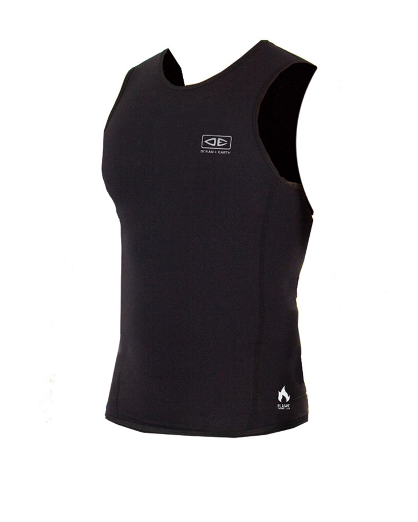 Mens Flame Thermo Vest - Black