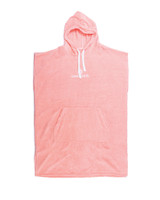 Ladies Hooded Poncho - Shell Pink