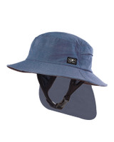 Mens Indo Stiff Peak Surf Hat - Blue Marle