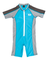 Toddlers Zip Front Sun Suit - Blue