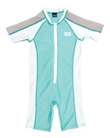 Toddlers Zip Front Sun Suit - Mint