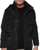Mens Arctic Down Puffer Jacket - Black