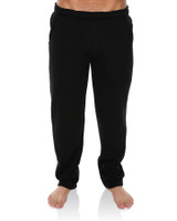 Big Mens Trip Open Leg Track Pant - Black